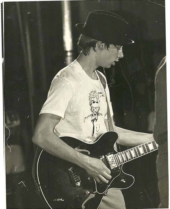 Jeff playing at unknown gig  1983